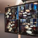 Yamaha drums on quad monitor